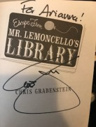 Escape From Library Grabenstein Autograph